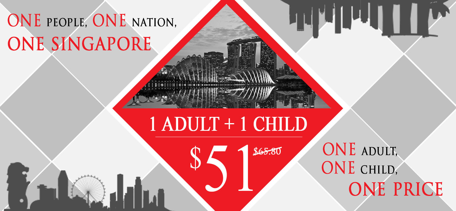 National-day-promotion best adventure park tickets discounts singapore 1 adult 1 child only $51