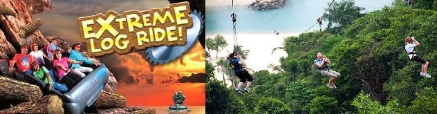 Extreme Log Ride + Zip Line enjoy adventurous rides at best adventure park singapore