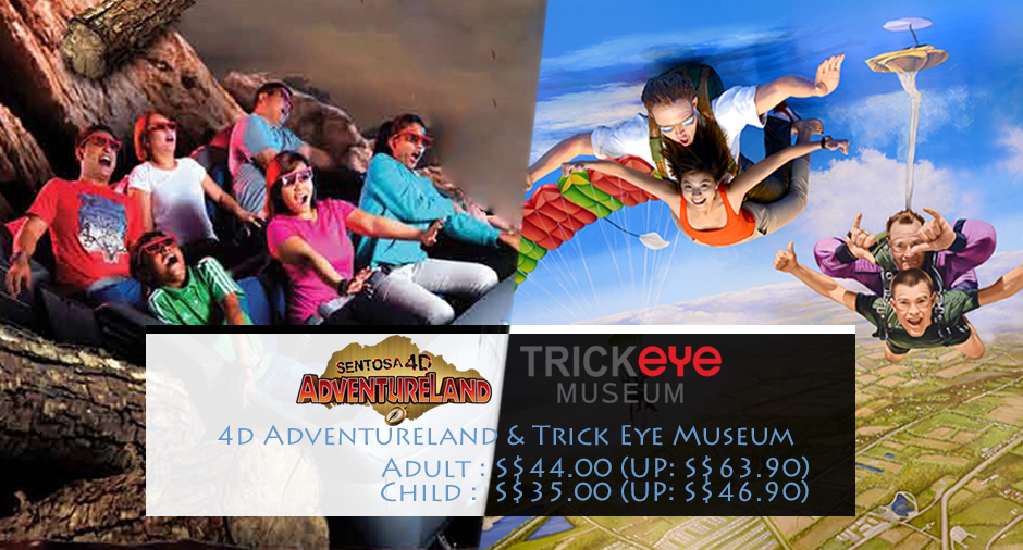 trick eye museum and 4d adventureland combo ticket