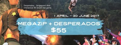 Megazip and Desperadoes Combo package sentosa