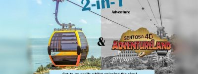 1 Day Pass + Cable Car best 2 in 1 offer kids park singapore