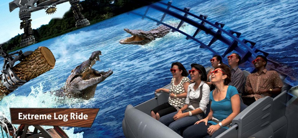 Experience the longest log ride in singapore with the extreme long ride