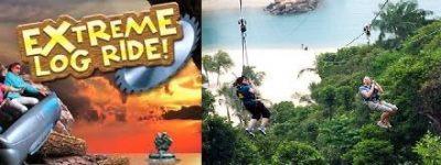 Extreme Log Ride + Zip Line enjoy adventurous rides at best adventure park singapore