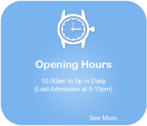 opening-hours for sentasa 4d adventureland are 10 am to 9 pm daily last admisison 8.15 pm